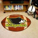 "Michigan Tech 22""x35"" Football Shape Area Rug"