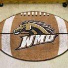 "Western Michigan University WMU 22""x35"" Football Shape Area Rug"
