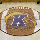 "Kent State University  22""x35"" Football Shape Area Rug"