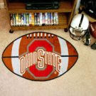"Ohio State University 22""x35"" Football Shape Area Rug"