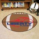 "Liberty University Flames 22""x35"" Football Shape Area Rug"