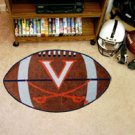 "University of Virginia V Logo with Swords 22""x35"" Football Shape Area Rug"