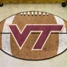 "Virginia Tech  22""x35"" Football Shape Area Rug"