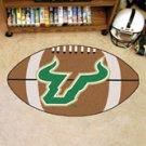 "University of South Florida 22""x35"" Football Shape Area Rug"