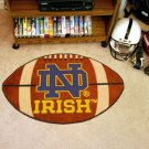 "Notre Dame ND Irish 22""x35"" Football Shape Area Rug"