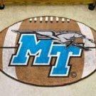 "Middle Tennessee State University Raiders  22""x35"" Football Shape Area Rug"