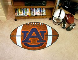 """Auburn University AU  22""""x35"""" Football Shape Area Rug"""