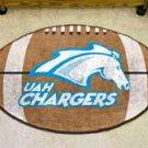 "University of Alabama at Huntsville UAH Chargers 22""x35"" Football Shape Area Rug"