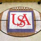 """University of South Alabama USA 22""""x35"""" Football Shape Area Rug"""