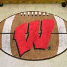 "University of Wisconsin Badgers 22""x35"" Football Shape Area Rug"