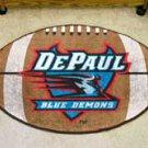 "DePaul University Blue Demons 22""x35"" Football Shape Area Rug"