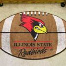 "Illinois State University Redbirds 22""x35"" Football Shape Area Rug"