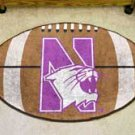 "Northwestern University 22""x35"" Football Shape Area Rug"