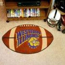 """Western Illinois University 22""""x35"""" Football Shape Area Rug"""