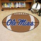 """University of Mississippi Ole Miss 22""""x35"""" Football Shape Area Rug"""