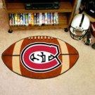 "St. Cloud State University 22""x35"" Football Shape Area Rug"