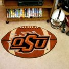 "Oklahoma State University OSU 22""x35"" Football Shape Area Rug"