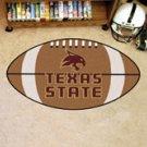 "Texas State University San Marcos 22""x35"" Football Shape Area Rug"