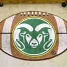"Colorado State University Ram Logo 22""x35"" Football Shape Area Rug"
