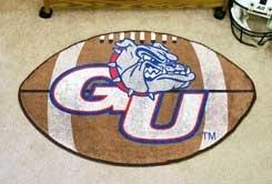 "Gonzaga University GU 22""x35"" Football Shape Area Rug"
