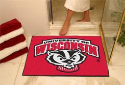 "University of Wisconsin Badger Logo 34""x44.5"" All Star Collegiate Carpeted Mat"