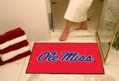 """University of Mississippi Ole Miss 34""""x44.5"""" All Star Collegiate Carpeted Mat"""