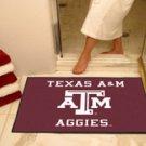 """Texas A&M University Aggies 34""""x44.5"""" All Star Collegiate Carpeted Mat"""