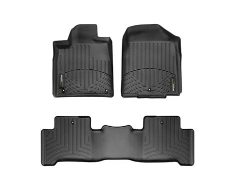 Weathertech 2004 2011 Nissan Armada Black 1st Amp 2nd Row