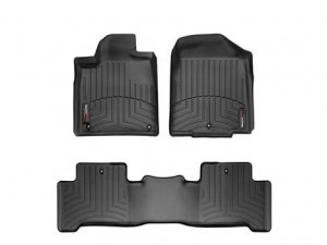 WeatherTech 2007 - 2011 Chevrolet Suburban Black 1st & 2nd Row FloorLiner Floor Mats
