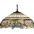 """Meyda Tiffany 18"""" Inch Stained Art Glass Handel Grapevine Pendant Ceiling Fixture"""