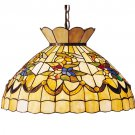 "Meyda Tiffany 20"" Stained Art Glass Bumble Bee Pendant Ceiling Light Fixture"
