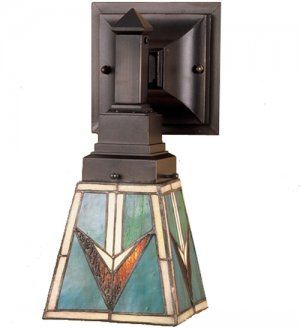 Meyda Tiffany Stained Art Glass Valencia Comanche Mission 1 Light Wall Sconce