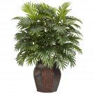 Nearly Natural Areca in wood Vase Silk Plant Tropical Decor