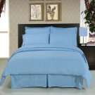ALL SIZES Solid Blue 8pc Bedding Set Super Soft Microfiber Sheets+Duvet+Alternative