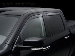 4pc 2006 - 2011 Honda Ridgeline Light Tinted Side Window Deflector Complete Set