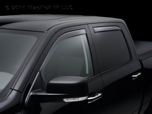 4pc 2007 - 2011 Cadillac Escalade Light Tinted Side Window Deflector Complete Set