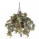 Nearly Natural Artificial Grape Leaf  Hanging Basket Silk Plant Floral Decor