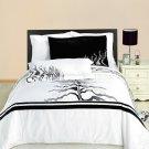 KING CAL/KING Huntington black & white Embroidered 100% Egyptian cotton 3pc Duvet Cover Set