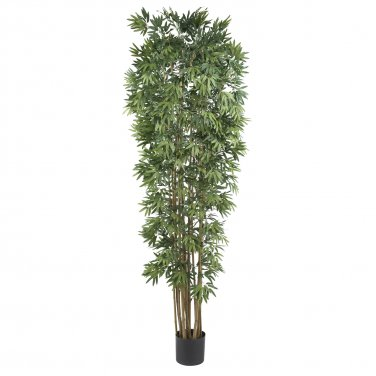 Nearly Natural Artificial 7' Japanica Bamboo Tropical Palm Silk Tree Home Decor