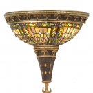 "19816 Meyda Tiffany Stained Art Glass 12""W Fleur-De-Lis Wall Sconce"