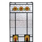 """Meyda Tiffany Stained Art Glass 18""""W X 32""""H Aurora Dogwood window panel"""