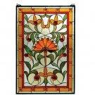 Meyda Tiffany Stained Art Glass 20x30 Mango Picadilly window panel
