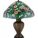 "Meyda Tiffany Stained Glass 23""H Morning Glory  Table Lamp"