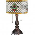 """Meyda Tiffany Stained Glass  19""""H Duffner & Kimberly Colonial accent  Table Lamp"""