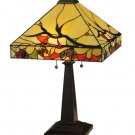 "Meyda Tiffany Stained Glass 25""H Woodland Berries    Accent Table Desk Lamp"