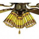 "Meyda Tiffany Stained Glass 4""W  Prairie Corn Ceiling Fan Light Shade"