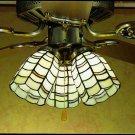 "Meyda Tiffany Stained Glass 4""W Sea Scallop Ceiling Fan Light Shade"