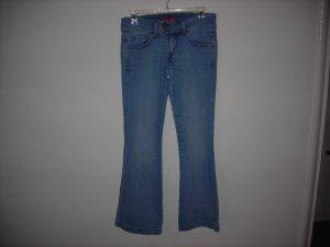 levis 524 too super low stretch womas jeans,size 3 medium,blue