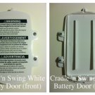 NEW Fisher Price Replacement Scatterbug Cradle 'n Swing White Battery Cover/Door