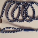 """Extra Fine - Blue & White 44"""" Lead With Thumb Handle"""
